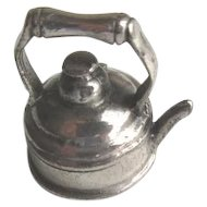 Vintage 800 Silver Dollhouse Teapot