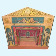 ON RESERVE FOR TJ  Victorian Commedia Dell'arte Toy Theatre with Puppet Performers c1870