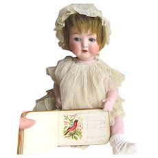 ON HOLD for AY.Do Not Order Antique Miniature Doll Size Autograph Album 1880