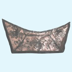 Antique Chantilly Lace on Pink Silk Satin For Doll