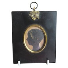 Antique British Silhouette of a Girl
