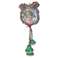 Angel Christmas Ornament Victorian Angel On Bells Ornament