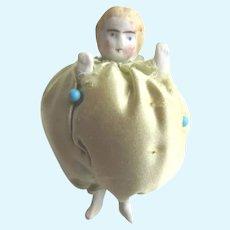 Antique German Bisque Doll Pincushion