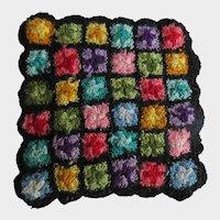 Miniature Fine Hand Crochet Vintage Doll Quilt