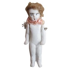 Hertwig Bisque Miniature Antique Doll Jointed Arms 2 Inches