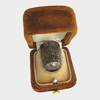 Antique Art Deco Thimble Sterling Silver Charles Horner Dorcas 10 Thimble in Velvet Box