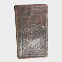 Antique Pennsylvania Dutch Hand Tooled Leather Book of Psalms 1831