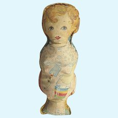 Antique Cloth Doll At the Beach