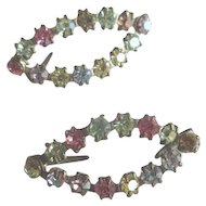 Vintage Colorful Rhinestone Clips for Doll Shoes