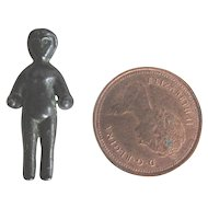 Tiny Antique Metal  Frozen Charlotte Doll