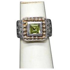 Sadye L. Vasille SLV Peridot Sterling Silver 14K Ring