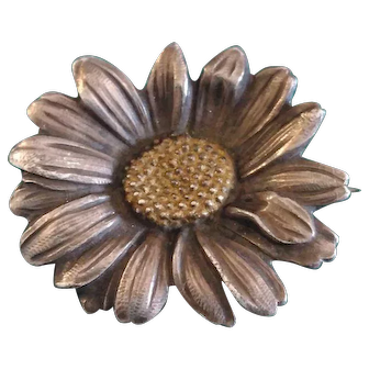 1930's Mellerio French Daisy Brooch