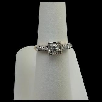 Vintage 14K gold Two Tone Diamond Ring