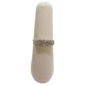 Vintage 14K European Cut Rose Cut Diamond Ring
