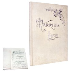 Antique 1895 MARRIAGE Certificate