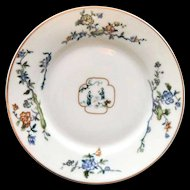 HAVILAND Limoges France Plate Scenic Oriental Dish Blue Floral