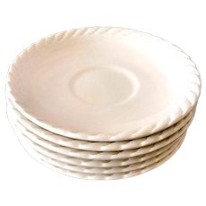 WEDGWOOD CLEARWATER Ralph Lauren Saucers Set of 6 Saucers for Cups