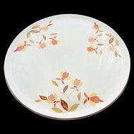 HALL Cake Plate Jewel Vintage AUTUMN LEAF Mary Dunbar Unused