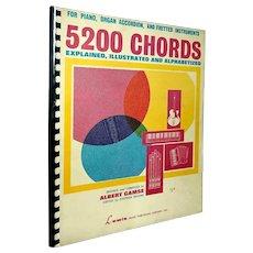 PIANO MUSIC BOOK Albert Gamse Guitar Music Book 5200 Chords Organ Accordion