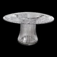 AMERICAN BRILLIANT Cut Glass Intaglio Engraved Flower Holder Vase ABP
