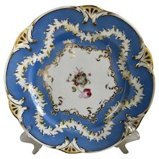 Rockingham China Works Brameld Plate Antique C 1830 Blue Museum Quality Plate B