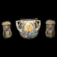 RSTK Amphora Austria Reissner Kessel Large Cachet Pot & 2 Vases