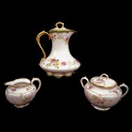 HAVILAND Limoges France CHOCOLATE  Pot Creamer & Sugar Bowl