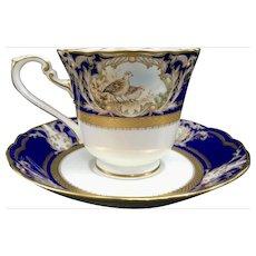 NORITAKE Foxboro Cup & Saucer Cobalt Blue