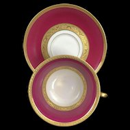 FRENCH Limoges Cup & Suacer Pink & Gold
