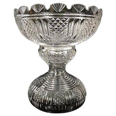 WATERFORD Punch Bowl Period Piece Crystal 2 Piece Centerpiece Ireland