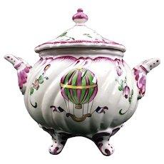 Antique French Faience Hot Air Balloon Jar