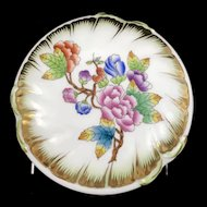 Herend Queen Victoria Butterfly Bonboniere Large Candy Box Covered Dish 6046VBO