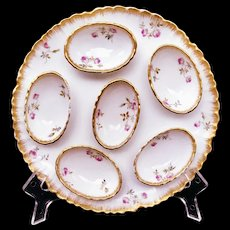 HAVILAND Limoges France Egg Plate