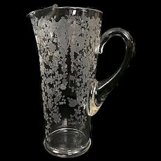 "Cambridge ROSEPOINT Martini Pitcher Ice Lip Elegant Glass 9"""