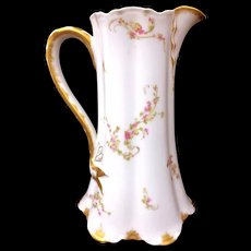 "Haviland Limoges Schleiger 8.75"" Pitcher 32 oz"