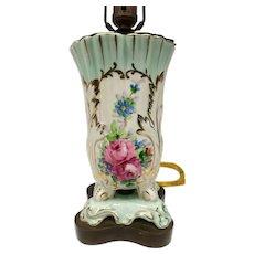 Antique Limoges Lamp Old Paris Artist Signed