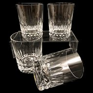6 Baccarat Piccadilly Doubled Old Fashioned Glasses Vintage