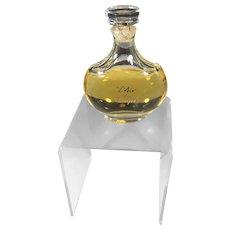 NINA RICCI L'AIR du TEMPS Laliques Bottle, Crystal Stopper. Sealed 1 Ounce