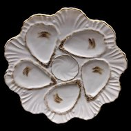 Marx & Gutherz Carlsbad Austria Vintage Oyster Plate Very Old Numbered 02045