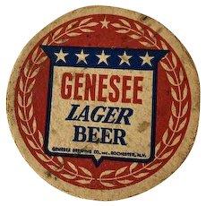Vintage Genesee Lager Beer Coaster