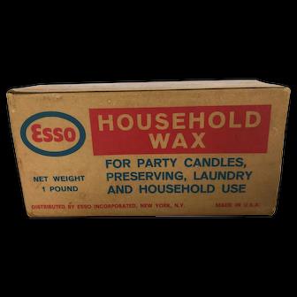 Vintage Esso Household Wax
