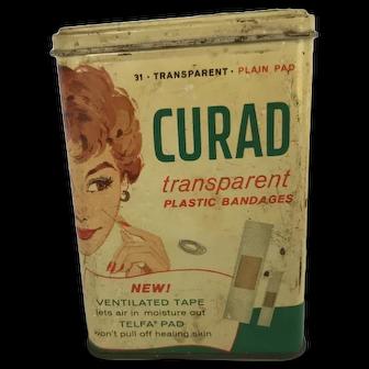 Vintage Curad Transparent Bandages Tin