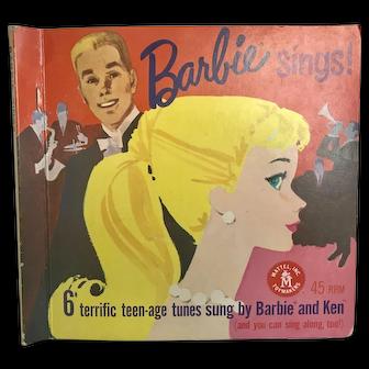 Vintage Barbie Sings 45 RPM Record Set