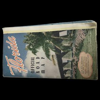 Vintage Official Florida Road Map