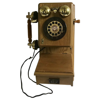 Vintage Spirit of St. Louis 1927 Replica Wooden Wall Phone