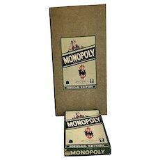 Vintage Monopoly Popular Edition  Board Game