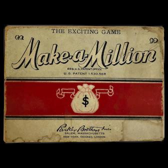 """Vintage """"Make-A- Million"""" Card Game"""