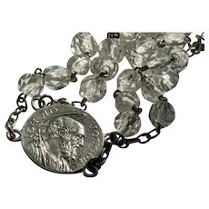 Antique French Communion Bracelet in Sterling Silver, dated 11 May 1905