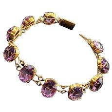 Antique Amethyst Toned Paste Bracelet