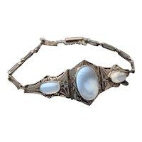 Antique Edwardian Ceylon Moonstone Bracelet